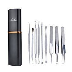 2. Aooher Professional 9 Piece Blackhead Remover Tool Kit