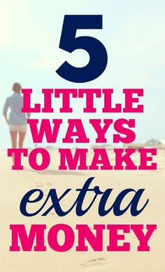 I know that sometimes that extra little side hustle makes a huge difference. Some months it's the difference between making it and having to ask for help. Here are 5 little ways to make extra money...and they're fun!