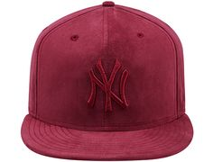 Burgundy Suede New York Yankees 9Fifty Snapback Cap by NEW ERA x MLB Suede  Hat 6e9d525901a