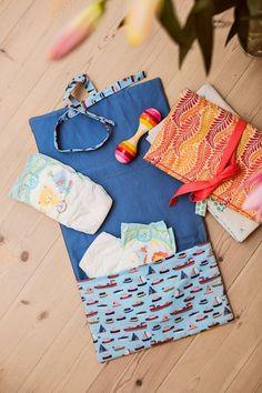 Wickelunterlage mit Tasche - Initiative Handarbeit