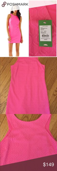 "🆕 Lilly Pulitzer Mango Shift Dress knit jacquard The Mango shift is a delight with details. With metallic jacquard knit AND a cut in neckline detail, this shift really has it all- and we can't get enough. Knit Metallic Jacquard Shift Dress With Cut In Neckline Detail. 18 1/2"" From Natural Waist To Hem. Retro Knit Jacquard (98% Polyester - 2% Metallic). Machine Wash Cold. Imported. Underarm across 18"". Length 35"". Brand new with tag. Retail price $198. Smoke free and pet free. Lilly Pulitzer…"
