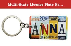 Multi-State License Plate Name Charm Keychain: Anna - By Ganz. Who knows where the journey will take you! ; License plate charm keychain; Spells out the name using four different state license plates; Metal Construction; Great for those who love road trips; Measures 3in (7.5cm) long and 1.5in (4cm) tall.