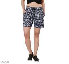 Shorts Stylish Cotton Hosiery Women's Shorts  *Fabric* Cotton Hosiery  *Waist Size* S - 26 in, M - 28 in, L - 30 in  *Length* Up To 18 in  *Type* Stitched  *Description* It Has 1 Piece Of Women's Shorts  *Work* Printed  *Sizes Available* S, M, L *   Catalog Rating: ★4 (462)  Catalog Name: Destiny Fabulous Cotton Hosiery Women's Shorts CatalogID_114450 C79-SC1038 Code: 322-967443-