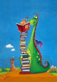 George and his Dragon - Els Petits Infants: Bon dia de Sant Jordi… I Love Books, Books To Read, My Books, Cute Dragons, Dragon Art, Children's Book Illustration, Book Lovers, Book Worms, Childrens Books