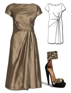 Explora esta imagen interactiva: Get this elegant dress pattern, Just the right amount of ... by BurdaStyle Admin