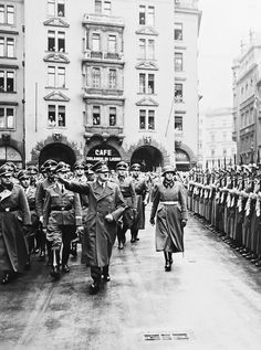 Adolf Hitler on March 5, 1941 in front of Munich's famed Hofbräuhaus.