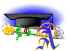 Alfabeto con gorro de graduación.
