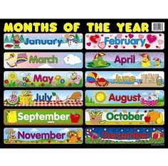 Use a classroom chart to help students master the months of the year. The Months of the Year chartlet measures x and features all 12 months. You can display this chart for students anywhere in your learning environment for a year-round reference. Learning Sight Words, Learning Shapes, Early Learning, Student Learning, Learning Resources, Kids Learning, Kindergarten Classroom Decor, Owl Classroom, Kindergarten Learning