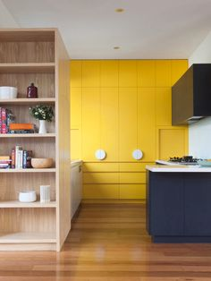 Yellow kitchen will be so much attractive for any home design whether big or small. It gives your room a bright color and more spacious. So, here are some yellow kitchen ideas for designing your kitchen room. The Design Files, Küchen Design, Layout Design, House Design, Modern Design, Yellow Kitchen Decor, Kitchen Paint Colors, Design Seeds, Yellow Cupboards