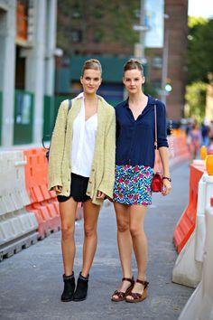 #SaraBlomqvist & #MirteMaas looking all summery fresh #offduty in NYC.