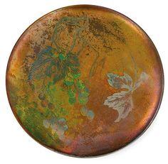 Clément Massier (1844-1917), Iridescent Glazed Decorated Ceramic Plate.