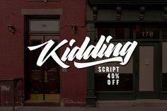 Kidding Script (40%OFF) by Craft Supply Co. on @creativemarket