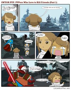 Pvp, SWTOR webcomic Coffee Drinkers, Pvp, Family Guy, Friends, Cats, Fictional Characters, Amigos, Gatos, Coffee Lovers
