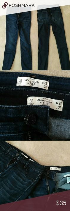 TWO PAIRS ABERCROMBIE AND FITCH NATURAL WAIST PANT This listing contains TWO pairs of Abercrombie natural waist jeans that have only been worn once or twice. W 26, L 29, and 2R for both pants. They have been through the wash before, but the quality is still great.  The pants have a little bit of stretch to them and are soft feeling.  They fit me perfectly and I am a size 2 (26) WILLING TO NEGOTIATE PRICE, WILLING TO SPLIT LISTING Abercrombie & Fitch Pants Skinny