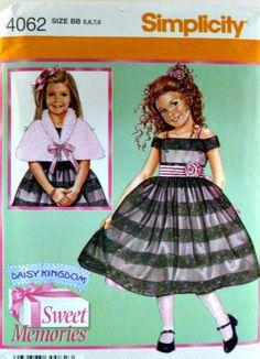 Simplicity 4062 Pattern Daisy Kingdom Sweet by VintageNeedleFinds,