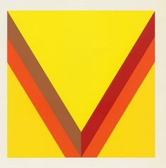 Kenneth Noland 1924-2010 – One of the kings of the postwar Color Field School of Painting.  – Early Fall, silkscreen.