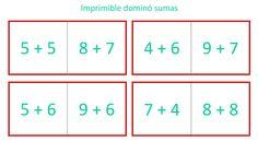 Plantilla para hacer un dominó - Aprendiendo matemáticas