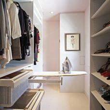 slide out ironing board... contemporary closet by Lisa Adams, LA Closet Design