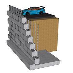 Wall Ideas Concrete Retaining Wall Design Reinforced Concrete with regard to sizing 1024 X 819 Concrete Block Wall Design Guide - Mounting a flat panel TV Types Of Retaining Wall, Concrete Block Retaining Wall, Retaining Wall Design, Concrete Block Walls, Brick Block, Lego Blocks, Flat Panel Tv, Reinforced Concrete, Diy And Crafts