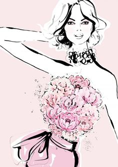 Peonies meet fashion in limited edition Megan Hess illustrations for Mother's Day