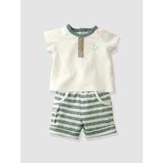 Image 1 Babyset aus T-Shirt und Shorts Neugeborene VERTBAUDET