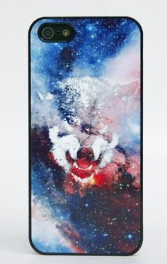 Galactic Wolf iPhone Case. I want an iPhone just so I can have this case