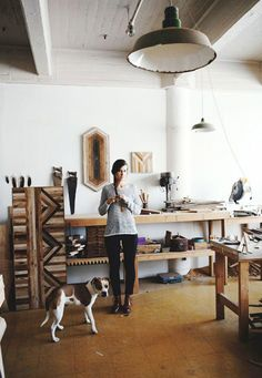 Inside the Beautiful, Creative Spaces of 10 Artists | @domainehome