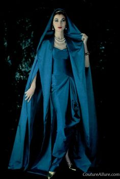 1957 Mme. Gres gown from Couture Allure Vintage Fashion