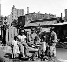 A photo of a family during slavery in Richmond, VA estimated to be takein in 1865.