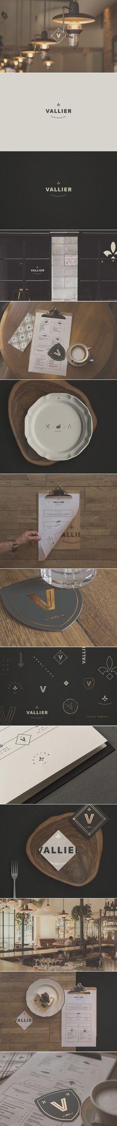 Vallier Bistro Branding by Phoenix the Creative Studio | Fivestar Branding Agency – Design and Branding Agency & Curated Inspiration Gallery #bistro #bistrobranding #restaurantbranding #branding #design #coasters #logo #logomark #design #behance #pinterest #dribbble #fivestarbranding