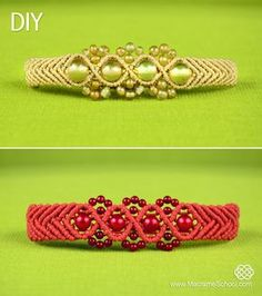 Wavy Chevron Bracelet with Beads Tutorial