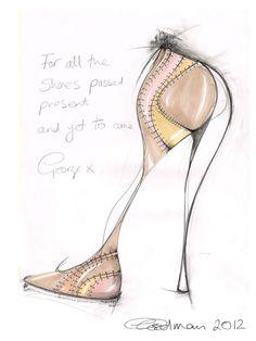 Georgina Goodman Shoe Sketch