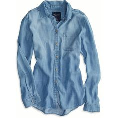 AE Boyfriend Chambray Shirt and other apparel, accessories and trends. Browse and shop 8 related looks.