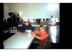 My brother and sister at the lunch counter. Counter, Brother, Dining Table, Lunch, Furniture, Home Decor, Dining Room Table, Decoration Home, Room Decor