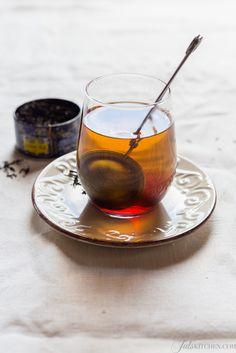 Tea in clear glass always calms me