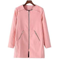 Yoins Yoins Duster Coat ($51) ❤ liked on Polyvore featuring outerwear, coats, coats & jackets, pink, long coat, duster coat, long red coat, pink coat and red coat