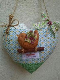 Mobile  coração com Passarinho  #Amoraparch #Mobile #Coracaocompassarinho