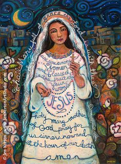 Painted Prayers by Jen Norton, via Behance