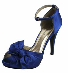 New women's shoes evening stilettos satin buckle party wedding prom royal blue 32.95 ebay