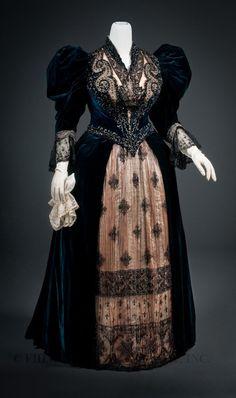 Félix reception dress ca. 1893-95 From the FIDM Museum