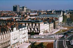 Une vue aérienne de Nantes