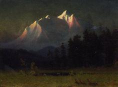 Albert Bierstadt (1830-1902)western landscape