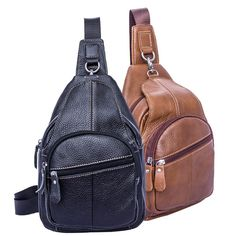 Item Type: HandbagsInterior: Interior Compartment,Cell Phone Pocket,Interior Zipper PocketGenuine Leather Type: Cow LeatherLining Material: PolyesterExterior: S Men's Backpack, Travel Accessories, Backpacks, Shoulder, Leather, Bags, Handbags, Backpack, Men's Backpacks