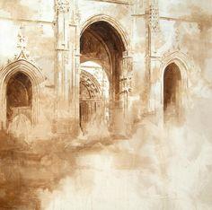 Nono garcía, pintor Murcia, Pintura reciente Watercolor Techniques, Drawing Techniques, Mula Murcia, Pencil Drawing Inspiration, Art Drawings Sketches, Urban Landscape, Art And Architecture, Watercolor Art, Book Art