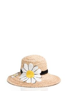 embroidered daisy sunhat - Kate Spade New York--  If you know me, you know I avoid the sun at all costs.