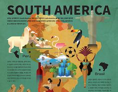 """Check out new work on my @Behance portfolio: """"South Ameria Infographics"""" http://be.net/gallery/35418893/South-Ameria-Infographics"""