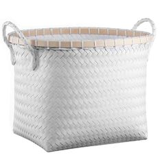 Medium Oval Woven Bin White - Room Essentials™ : Target