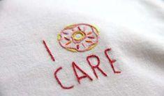 I donut care. Do you? (Embroidered tshirt) I donut care. - I donut care. Do you? (Embroidered tshirt) I donut care. Embroidery Monogram, Shirt Embroidery, Embroidery Fabric, Embroidery Patches, Hand Embroidery Designs, Embroidery Patterns, Machine Embroidery, Embroidered Shirts, Border Embroidery