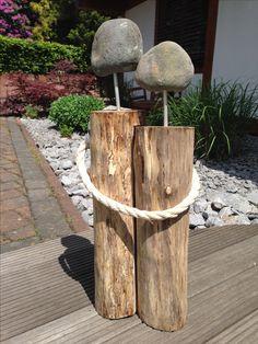 Holzstamm Pärchen - verschenkt zur Silberhochzeit