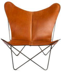 OxDenmarq Armchair Trifolium - Stainless Steel Frame - Leather - Hazelnut |  https://designonline24.nl